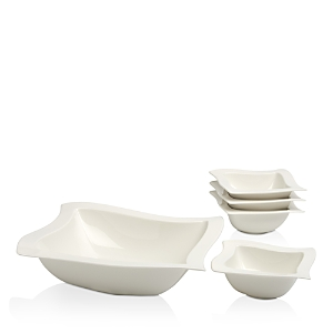 Villeroy & Boch New Wave 5-Piece Salad Bowl Set