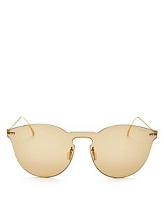 Illesteva - Women's Leonard II Mask Mirrored Round Shield Sunglasses, 142mm