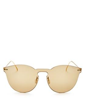 f0a68123c84 Illesteva - Women s Leonard II Mask Mirrored Round Shield Sunglasses