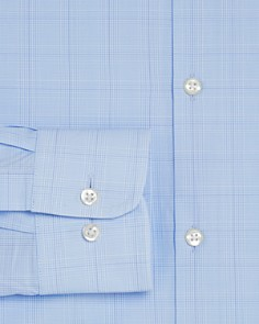 The Men's Store at Bloomingdale's - Blue Glen Plaid Regular Fit Dress Shirt - 100% Exclusive