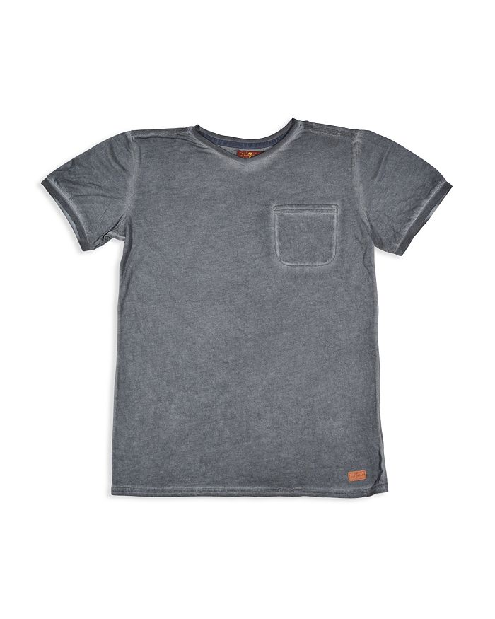 7 For All Mankind - Boys' Mineral-Washed V-Neck Tee - Little Kid, Big Kid