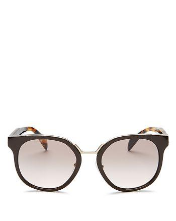 Prada - Women's Crazy Daises Square Sunglasses, 53mm