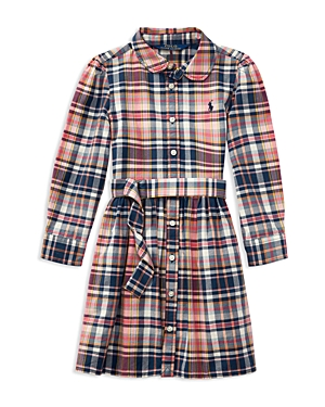Ralph Lauren Childrenswear Girls Girls Madras Plaid Shirtdress  Little Kid