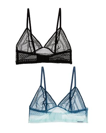 Calvin Klein - Sheer Lace Triangle Bralettes, Set of 2
