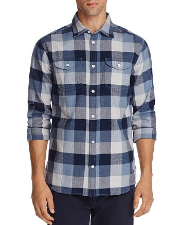 Flag & Anthem - Blue Plaid Regular Fit Flannel - 100% Exclusive