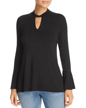 Kim & Cami Twist-Collar Top