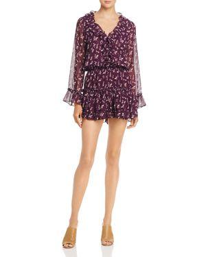 Misa Los Angeles Long-Sleeve Ruffle Dress