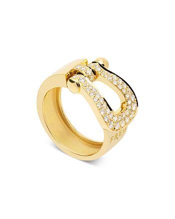 Fred - 18K Yellow Gold Force 10 Diamond Large Ribbon Ring