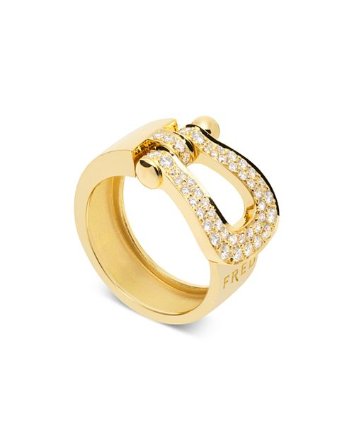 Fred - 18K Yellow Gold Force 10 Diamond Large Ribbon Ring