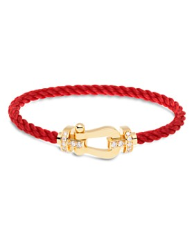 Fred - Force 10 Large Cable Bracelets and 18K Yellow Gold Buckles