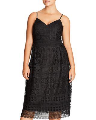 $City Chic Sublime Lace Midi Dress - Bloomingdale's