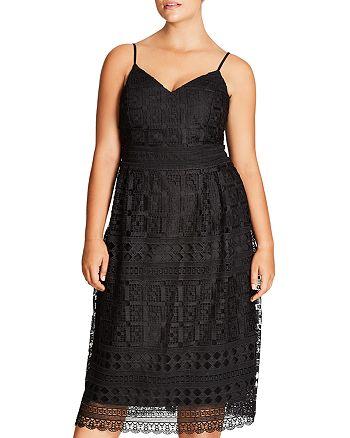 City Chic Plus - Sublime Lace Midi Dress