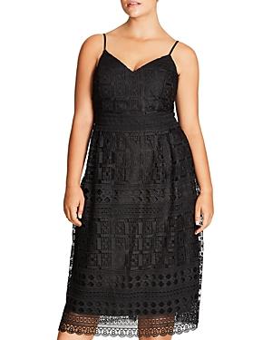 City Chic Sublime Lace Midi Dress