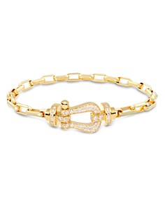 Fred 18K Yellow Gold Force 10 Large Link Bracelet with 18K Yellow Gold Diamond Buckle - Bloomingdale's_0