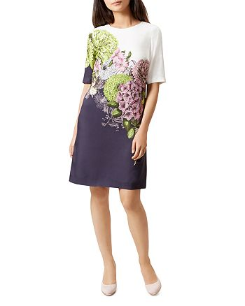 HOBBS LONDON - Cheryl Floral-Print Dress