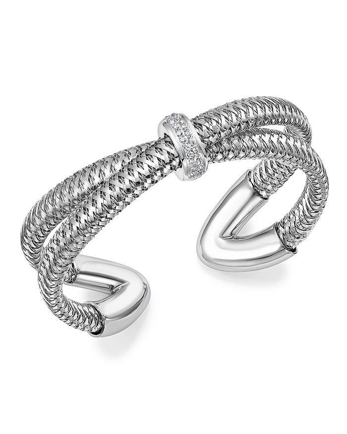 Roberto Coin - 18K Gold Primavera Diamond Cuff Bracelet - 100% Exclusive