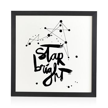 "Deny Designs - Kal Barteski Star Bright Framed Wall Art, 12"" x 12"""