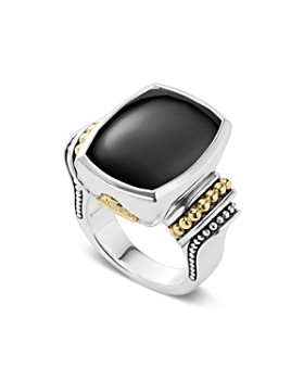 LAGOS - 18K Gold & Sterling Silver Caviar Color Large Gemstone Rings