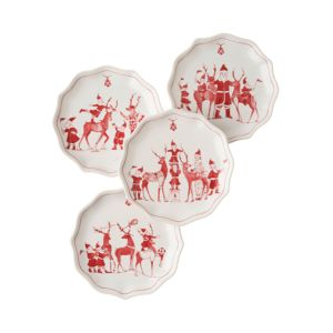 Juliska Reindeer Plate, Set of 4