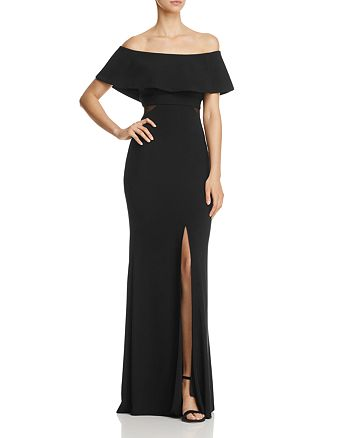Avery G - Off-the-Shoulder Flounce Gown