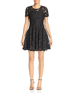 Michael Michael Kors Floral Lace Fit-and-Flare Dress