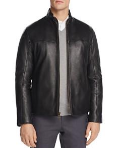 Cole Haan - Zip-Front Leather Jacket
