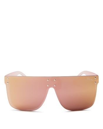 Quay - Women's Hidden Hills Mirrored Sunglasses, 55mm
