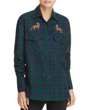 Petersyn Windsor Cheetah Plaid Shirt thumbnail