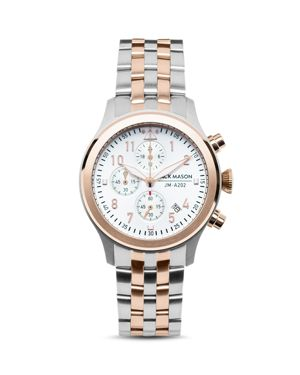 Jack Mason Two-Tone Aviator Chronograph Watch, 36mm
