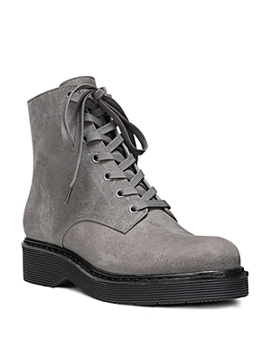 Vince Monastir Leather Lace Up Combat Boots