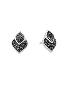 John Hardy Sterling Silver Legends Naga Black Shire And Spinel Stud Earrings Bloomingdale