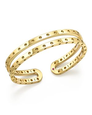 Roberto Coin 18K Yellow Gold Symphony Double Bangle