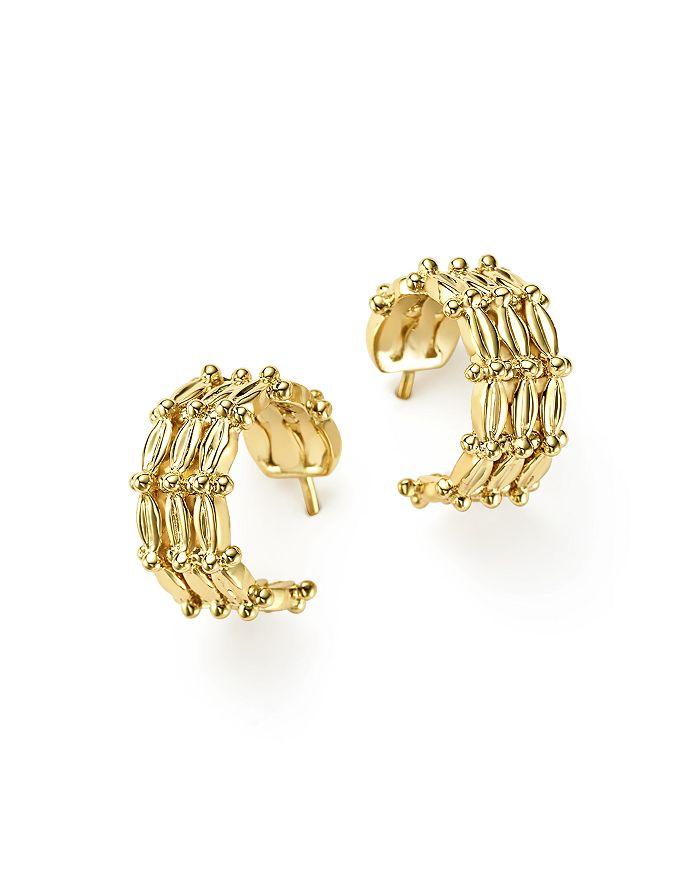 18K Yellow Gold Vigna Hoop Earrings