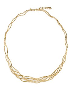 """Bloomingdale's - 14K Yellow Gold Wave Wire Collar Necklace, 17"""" - 100% Exclusive"""