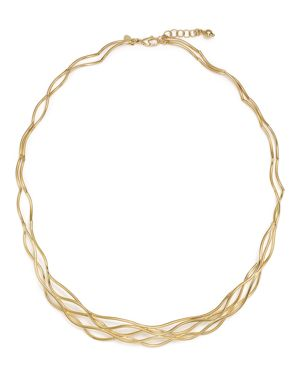 14K Yellow Gold Wave Wire Collar Necklace, 17 - 100% Exclusive