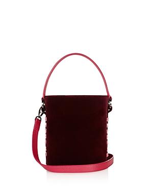 meli melo Santina Mini Velvet Bucket Bag