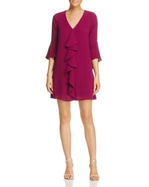 Adrianna Papell Three-Quarter Sleeve Ruffle Dress 2659008