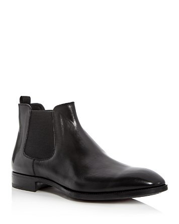$Armani Men's Leather Chelsea Boots - Bloomingdale's