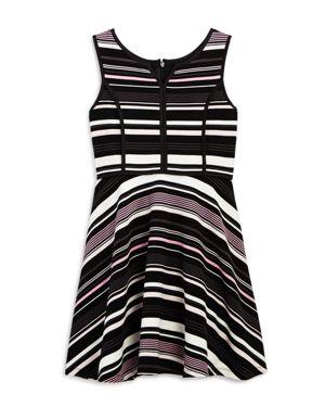 Pippa & Julie Girls' Striped Fit-and-Flare Dress - Big Kid