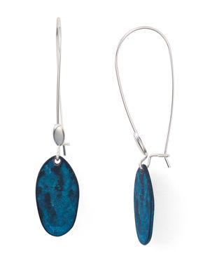 Robert Lee Morris Soho Patina Shepherds Hook Earrings