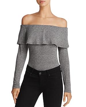 Bardot Ruffle Off-the-Shoulder Bodysuit