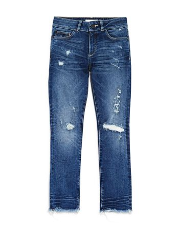 DL1961 - Girls' Distressed Shadow-Pocket Skinny Jeans - Big Kids