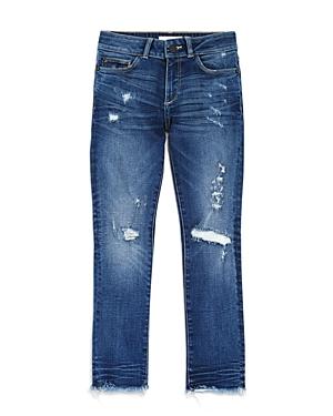 DL1961 Girls' Distressed Shadow-Pocket Skinny Jeans - Big Kids