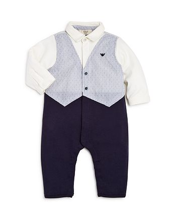 Armani Junior - Boys' Vest, Shirt & Pants Coverall - Baby