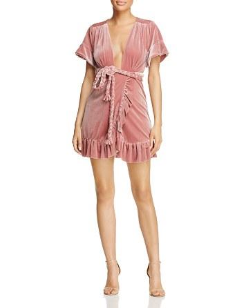 $MISA Los Angeles Velvet Wrap Dress - Bloomingdale's
