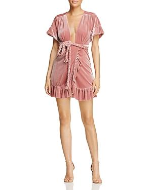 Misa Los Angeles Velvet Wrap Dress