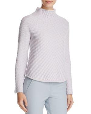 Armani Collezioni Woven Wool & Cashmere Sweater