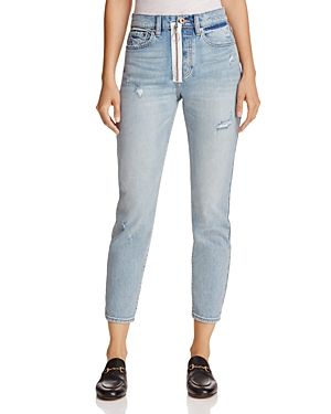 Pistola Nico High-Rise Exposed Zip Skinny Jeans in Lexington Lux