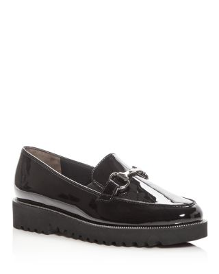 WOMEN'S NANDI PATENT LEATHER PLATFORM LOAFERS - 100% EXCLUSIVE