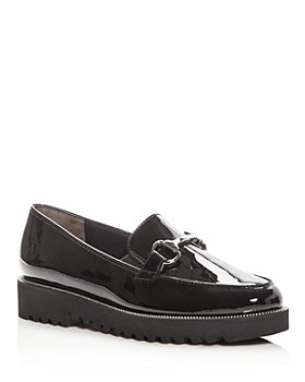 Paul Green - Women's Nandi Patent Leather Platform Loafers
